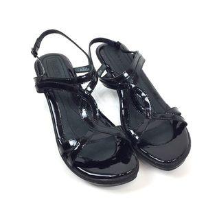 Born Black Leather Sandals Women's Size 10/42